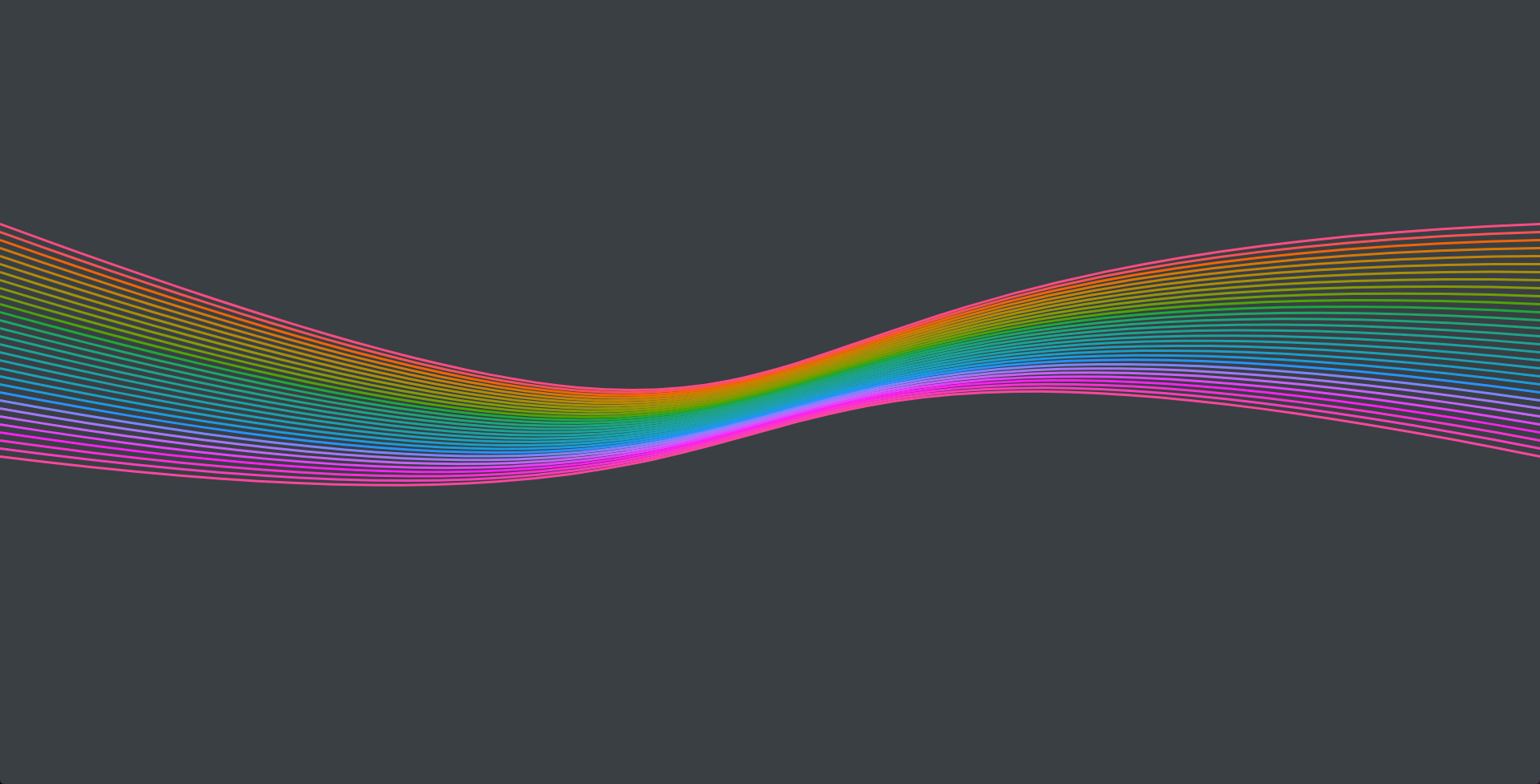 JavaScript experience SVG colored lines interact with mousemove